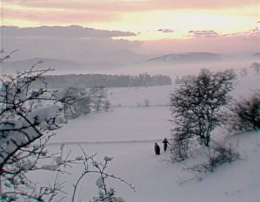 Snowy scene from BBC adaptation of The Box of Delights