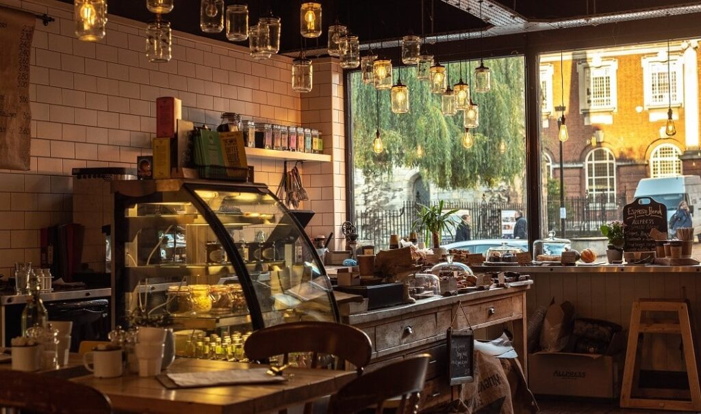 Cosy hygge coffee shop