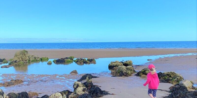Rockpools on Cullen beach