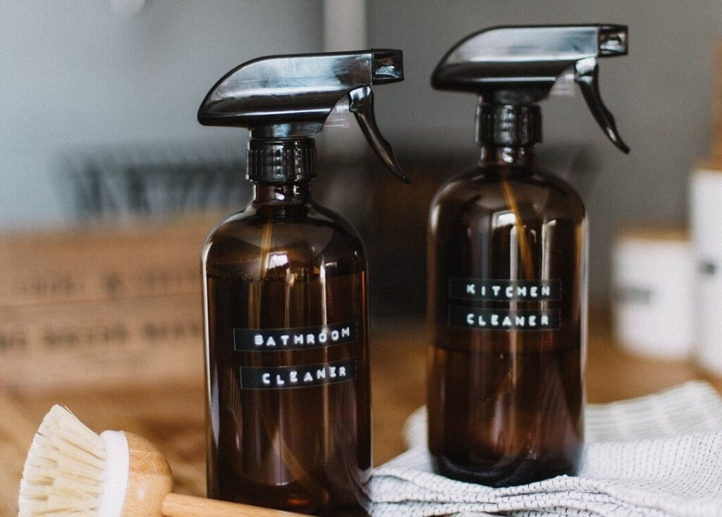 Cleaner spray bottles for spring cleaning