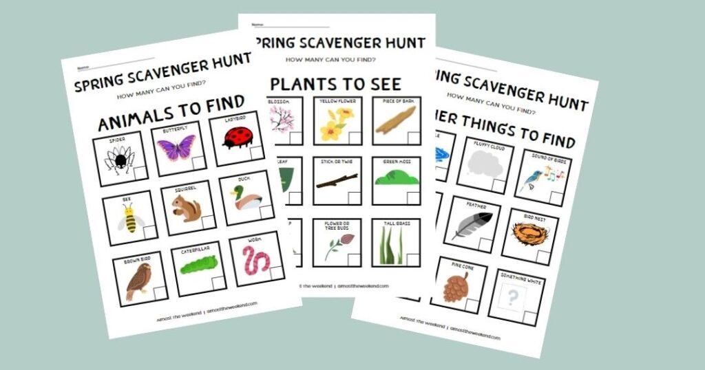 Spring Scavenger Hunt Sample